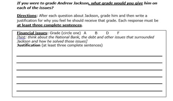Andrew Jackson Report Card Mini-Project
