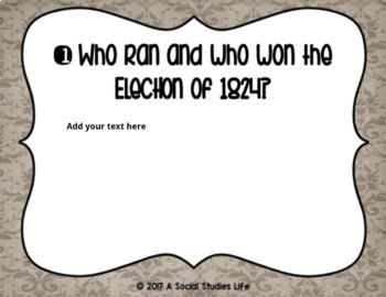 Andrew Jackson Task Cards and Recording Sheet