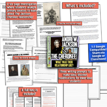 Andrew Jackson & the Cherokee: Friends or Foes? Common Core Investigation!