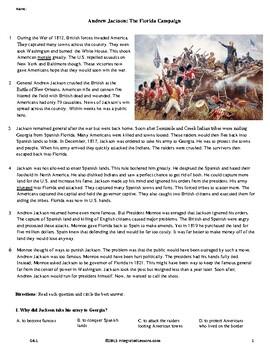 Andrew Jackson: The Florida Campaign - Grade 6