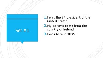 Andrew Jackson- Two Truths and A Lie Introduction Activity