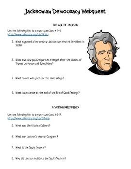 Andrew Jackson Webquest