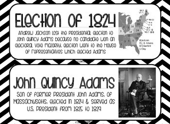 Andrew Jackson Word Wall - Black and White