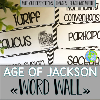 Andrew Jackson Word Wall without definitions - Black and White