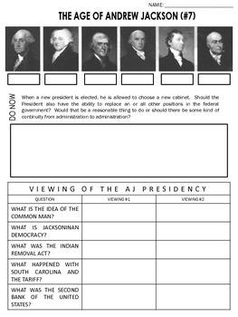 Andrew Jackson Worksheet