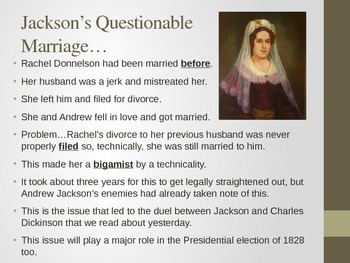 Andrew Jackson and the Election 0f 1828 -- Nastiest Election Ever?