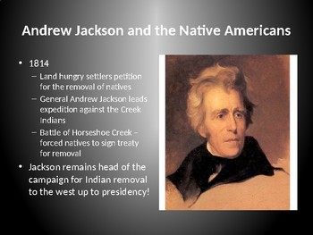 Indian Removal Act Andrew Jackson andrew jackson and the indian removal acthgregory history | tpt