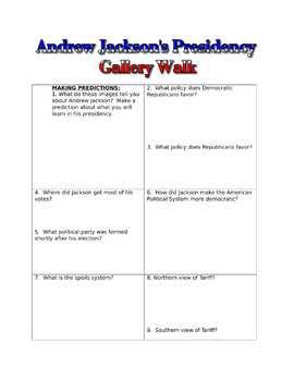 Andrew Jackson's Presidency Gallery Walk with PEAR DECK Google Slides
