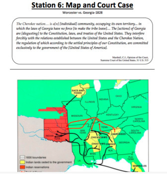 Andrew Jackson Presidency - 6 Stations Lesson
