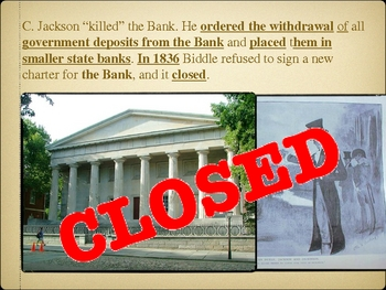 Andrew Jackson vs. the Bank of the United States PowerPoint Lesson