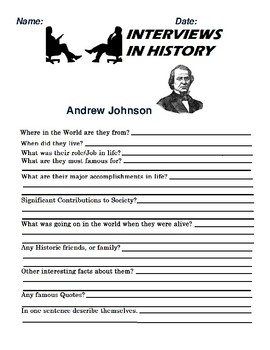 Andrew Johnson  Research and interview Assignment
