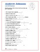 Andrew Johnson - Word Search and Fill in the Blanks