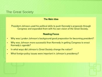 Andrew Johnson's Presidency and Programs
