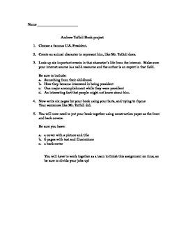 Andrew Tiffoli Book Project- Presidents