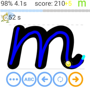 Android app - d'nealian and cursive letters/numbers/words tracing