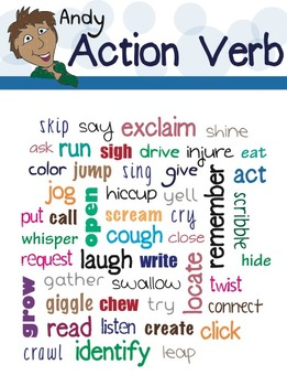 Andy Action Verb Poster