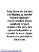Andy Shane and the Barn Sale Mystery Book Unit