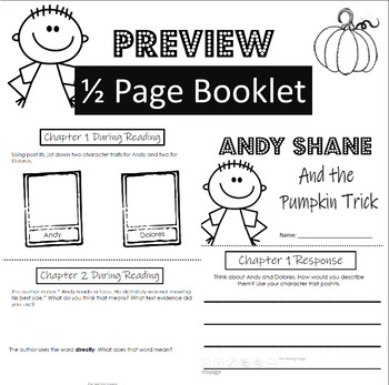 Andy Shane and the Pumpkin Trick - Response Journal