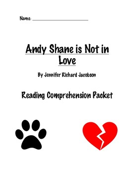 Andy Shane is NOT in Love Comprehension Packet