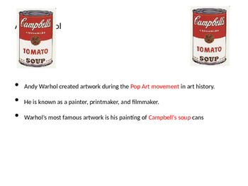 Andy Warhol 3D soup can art