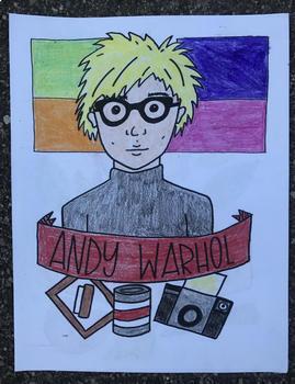 Andy Warhol Art History Printable Coloring Sheet/Coloring Page