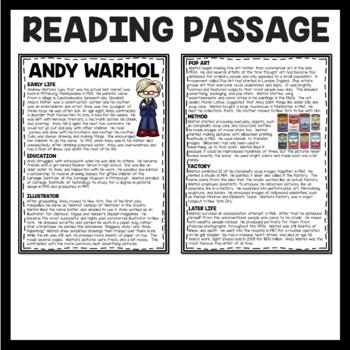 Andy warhol homework help