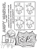 Andy Warhol Coloring Page- Pop Art