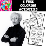 Andy Warhol Coloring Sheets