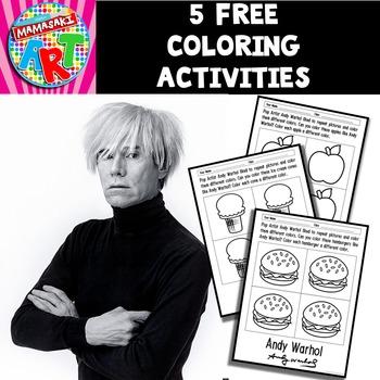 Andy Warhol Coloring Sheets