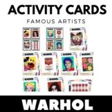 Andy Warhol - Famous Artist Activity Cards - Art Unit - EN