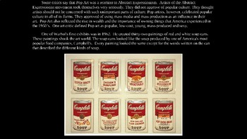 Andy Warhol Illustrated PowerPoint Biography