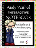Andy Warhol - Famous Artist Biography Research Project - Interactive Notebook