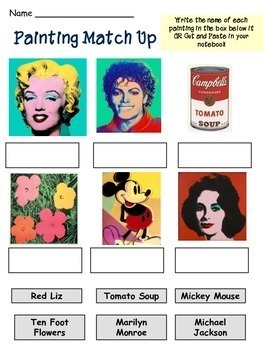 Andy Warhol - Meet the Artist - Artist of the Month - Mini Unit Printables