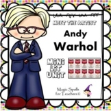Andy Warhol Activities - Famous Artists Biography Art Unit