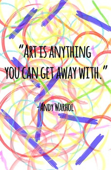 Andy Warhol Quote Poster