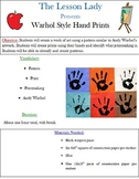 Andy Warhol Style Hand Prints Lesson