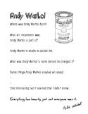 Andy Warhol Worksheet