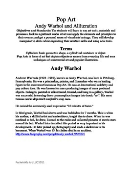 Andy Warhol and Alliteration Lesson Plan