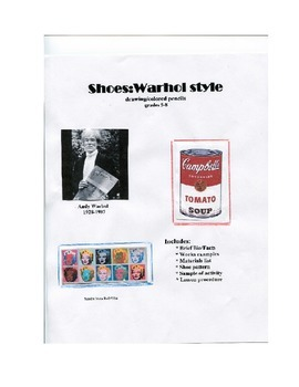 ANDY WARHOL art lesson