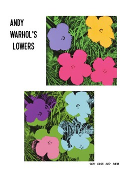 Andy Warhol's Flower Garden Printmaking Art Lesson!