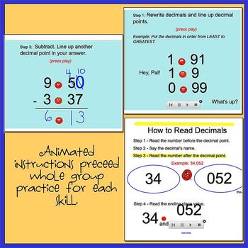 Andy the Decimal SmartBoard Activities - Teaching Students Decimal Place Value