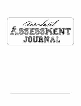Anecdotal Assessment Journal Kit