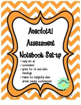 Anecdotal Assessment Notebook Setup