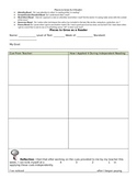 Anecdotal Form for Responsive Guided Reading