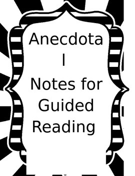 Anecdotal Notes