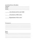 Anecdotal Notes Checklist