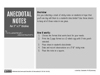 Anecdotal Notes Collector