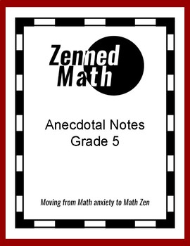 Anecdotal Notes For Fifth Grade