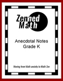 Anecdotal Notes For Kindergarten