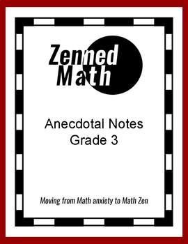 Anecdotal Notes For Third Grade